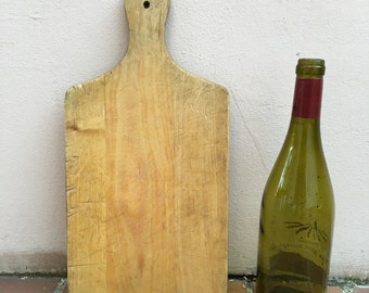 ANTIQUE VINTAGE FRENCH bread or chopping cutting board wood 336