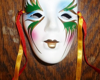 Small Hand Painted Ceramic Mask
