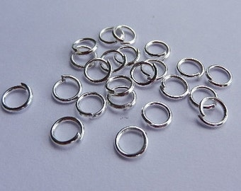 100 jump rings - 5 * 0.7 mm - silver plated / A2-0425
