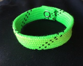 Hockey Lace Bracelet - Neon Green