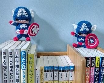 Captain America Amigurumi kawaii plush
