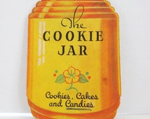 Rare Vintage 1930's Dixie Crystals 'The Cookie Jar' Cookbook-Cookies, Cakes and Candies