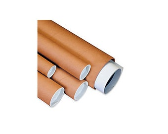 """2"""" x 6"""" Kraft Mailing Tubes with Caps (50)"""