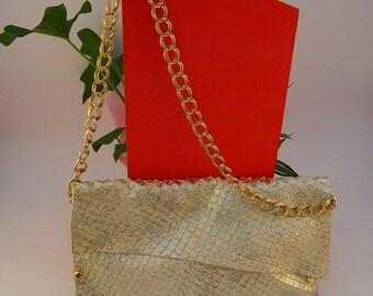 Shiny leather handbag