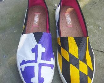 Maryland/ Ravens flag shoes