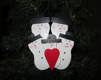 family of  five christmas ornament