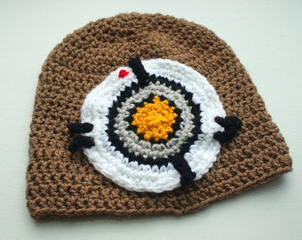 Portal GLaDOS Potato Beanie -- Handmade Made to Order