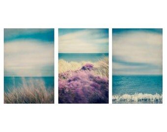 Set of Large Prints, Coastal Wall Art, Seaside Art, Blue Wall Art, Set of 3 Prints, Triptych, Coastal Decor, Beach Decor, Beach Art