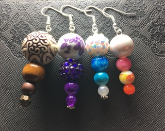 4 Bead Earrings