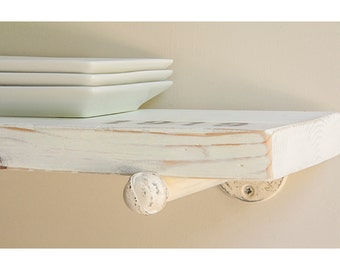 Floating Shelves | Industrial Floating Shelf | White Shelf | Rustic Floating Shelf | White Floating Shelves | Farmhouse Shelves