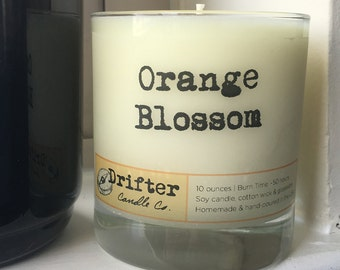 Orange Blossom Scented Soy Candle - 10 oz.