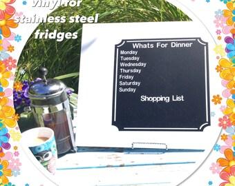Fridgettes - Chalkboard meal planner