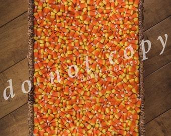 Candy Corn in Basket Newborn Digital Backdrop