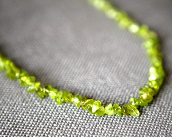 Light Green Stone Beaded Necklace