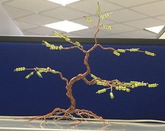decorative tree of wire of copper ideal for home and office