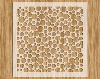 Mini Series Stencil - Random Circle Pattern Sku# N0101M