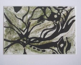 Starfish - Linocut and Collograph Print