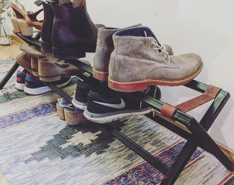 Shoe Rack with leather
