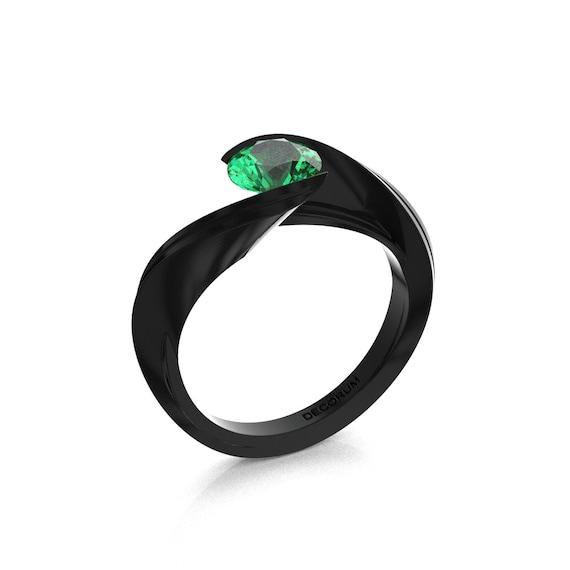 Decorum Black Gold Ring