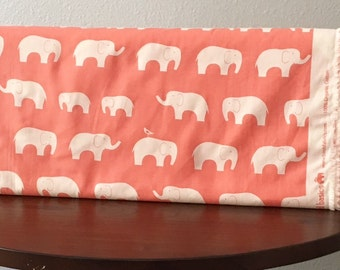 Ellie Fam Coral by Birch Fabrics Fabrics, 1/2 Yard Organic Cotton Fabric