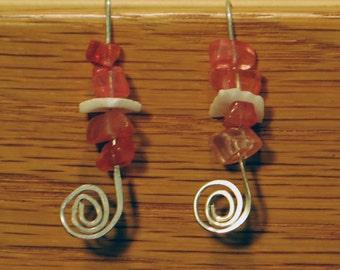 KCE-6030 - Strawberry Quartz Earrings