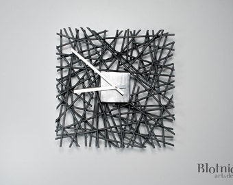 Time sticks - metal wall clock