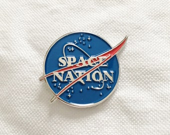 Space Nation Enamel Pin