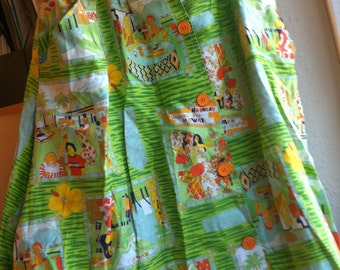 Hawaiin Gren skirt Vintage S / 8