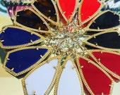 Alex Gold Trim Kendra Scott Inspired Fashion Earrings