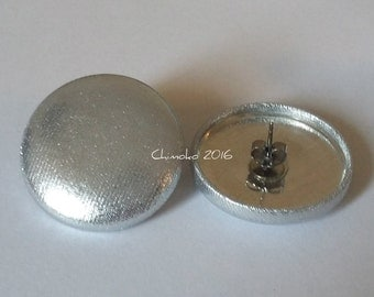 Silver Fabric Earrings