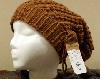Small adult Copper Slouchy Hat
