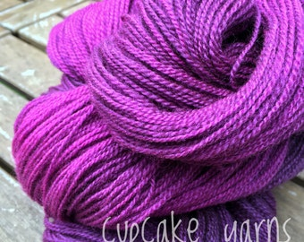 Mulberry Hand Dyed Lace Yarn, 50 grams