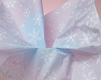 """50 Sheets Snowflakes on Light Blue Tissue Paper Tissue Paper - 30"""" x 20"""""""