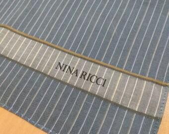 NINA RICCI, Vintage Handkerchief, Cotton, Scarf, Bandana, Wrapping Cloth