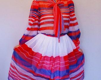 Vintage 1970s Victor Costa Dress