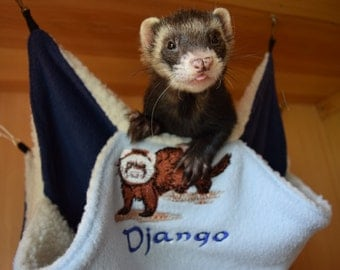 Hammock for ferrets and other small animals, double hammock ferret, rat, etc.