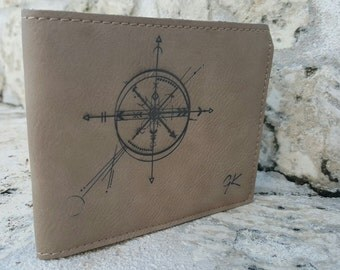 Abstract Compass Wallet Bifold
