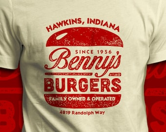 Benny's Burgers - Stranger Things T-Shirt - Men's / Unisex & Women's Fit