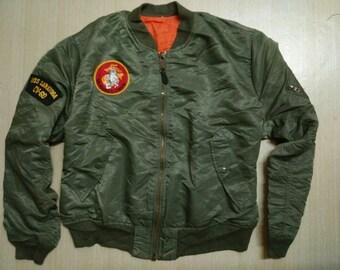 Vintage jacket ALPHA marine corps flying flight us army