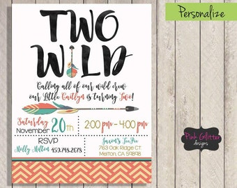 Two Wild Invitation, Two Wild Invite, Two Wild Birthday, Two Wild, Wild One, Wild One Invitation, Wild One Birthday, DIGITAL FILE