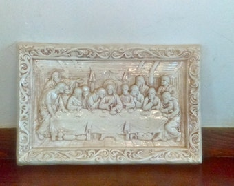 Handmade Last Supper Chalkware from 1985