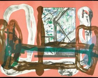 Casa-8, 1988. Lithograph by Eduardo ARRANZ-BRAVO