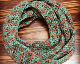 Long crochet Infinity Scarve