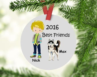 Best Friends Christmas Ornament - Husky Ornament