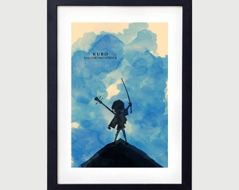 Kubo and the Two Strings Minimalist Poster, Kubo Minimalist Poster, Kubo Poster, Laika, Kubo and the Two Strings, Minimalist Art, Kubo