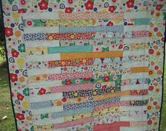 Baby/toddler bright Riley Blake all cotton quilt