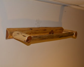 "Log Furniture- Log Towel Rack- 27"" Towel Rack, Cabin Furniture"