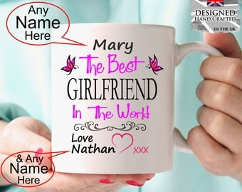 Personalised Girlfriend Gift Mug Birthday Gift,  Anniversary Present Christmas Gift Idea personalized girlfriend gift
