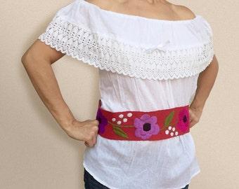Solid White Off-Shoulder Blouse