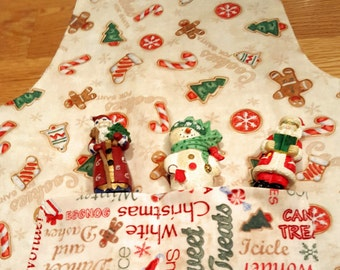 Toddler Apron in Christmas Fabric